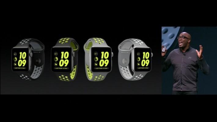 找來 Nike 合作,推出 Nike+ 版本 Apple watch。鋁製表身並有專用的表面顯示,更會提你出外跑步。