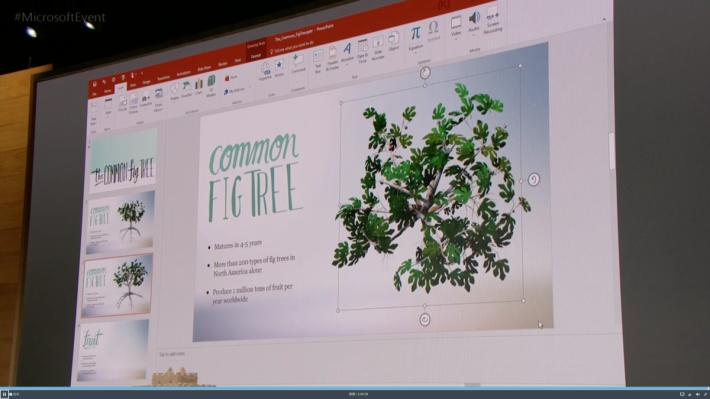 3D 模型可以應用在 PowerPoint 中製作出精美的內容。