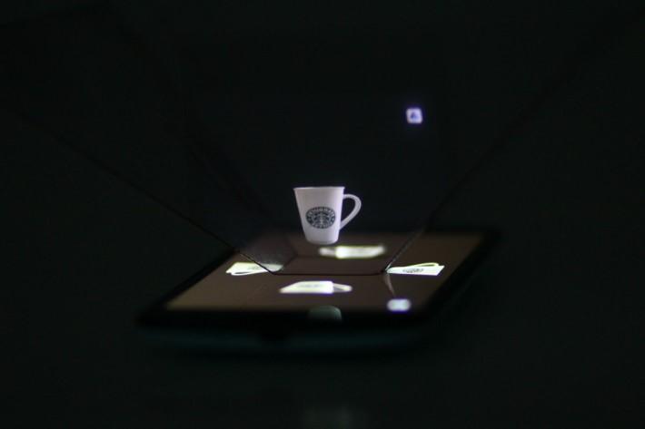 把處理好的相片以程式轉換為Hologram影像,處理後影像的立 體感明顯增強。