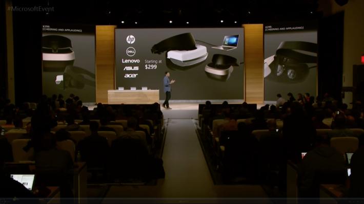 主要大廠將會推出Hololens, 售價由 299 美元起。