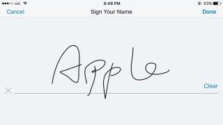 Step 4. 點選 Step 3 底下工具列中間的圖示,開始手寫簽名。