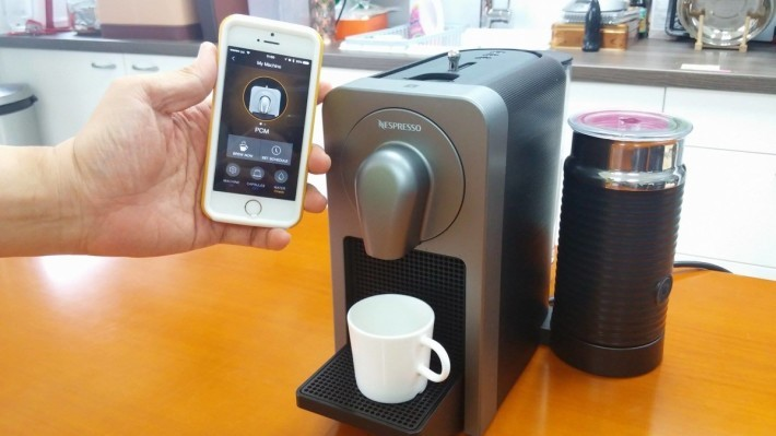 Nespresso Prodigio 加入了手機連線功能