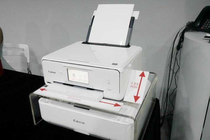 TS8070 較過往的 Canon 打印機更細小。