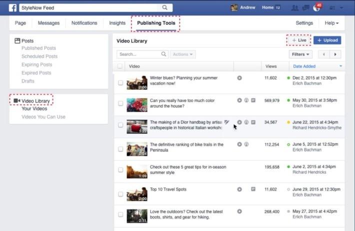 在 Publishing Tools 內的影片位置加入 Live 影片,可進行排程。