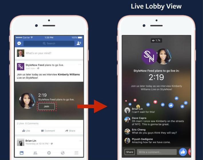 Live 正式播放前 3 分鐘,其他人便可以加入,與其他加入的人聊天。