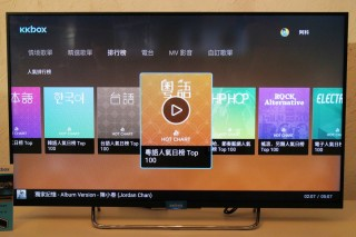 Android TV 版本的使用介面。
