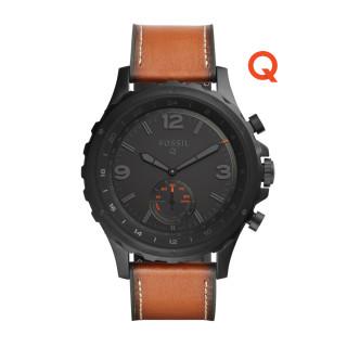 黑色表面配搭啡色皮革表帶的 Q Nate ,適合戶外活動。($1,800)