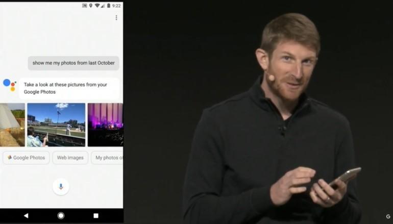 Google Assistant 咬上棉花糖和鳥結糖