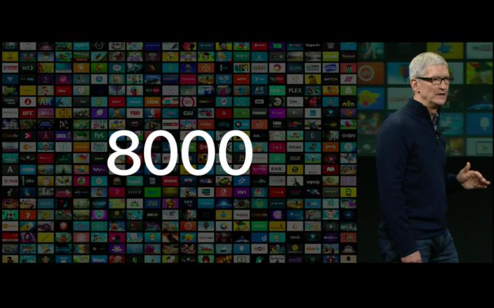 現有超過 8000 隻程式在 Apple TV 上可以用到。