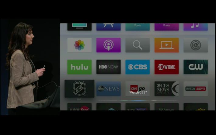用戶可以觀看電視直播,過程可以利用 Siri 進行操作。