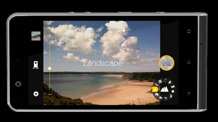 .拍攝介面採用自家設計,加入像 DSLR 的 PSAM 虛擬轉盤操作。