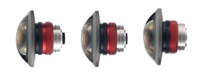 Entaniya 推出的 250° 魚眼鏡頭分別設有 2.3mm、3.0mm 及 3.6mm 焦距 3 種。