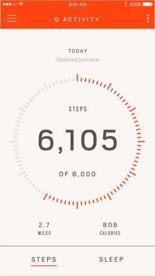 連接至智能電話,可記錄用家的每日步數。