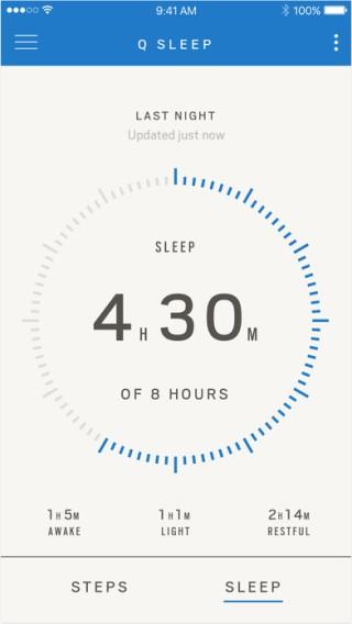 亦可記錄用家的睡眠質素