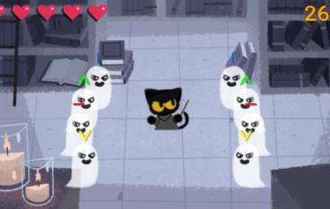 【限時遊戲】Google推萬聖節Doodle 化身小黑貓驅靈