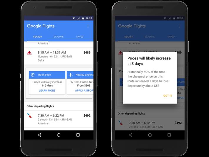 google flight 1