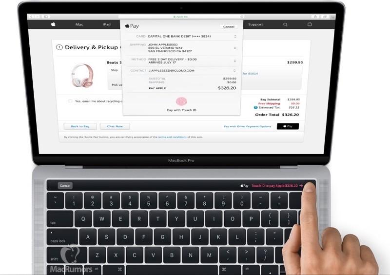 Apple 由 2016 年版 MacBook Pro 開始引入 Touch Bar 和 Touch ID。