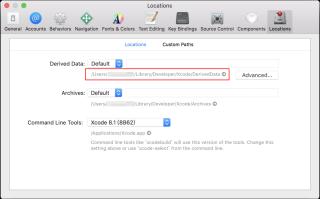 在 Preference/Locations 裡可以找到儲存專案所建立的資料的文件夾