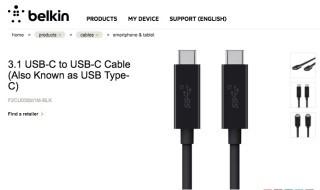 Belkin 3.1 USB-C to USB-C 傳輸線,傳輸速度10Gbps,最大供電功率60W。