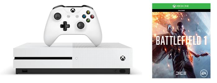 ・Xbox One S《Battlefield 1》1TB主機套裝開價 $2,680,11月25日發售。