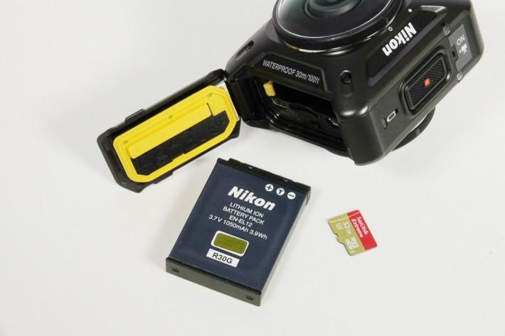KeyMission 360使用1050mAh鋰電池,續航力約1小時。