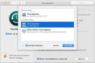 選擇你剛掛載的 Time Machine 資料夾