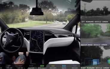 【無人駕駛】Tesla 公開完全自動駕駛車內片段