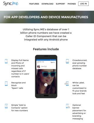 Sync.Me 不單可以查詢電話號碼,更提供付費查社交網絡帳號功能,更提供第三方開發者支援利用他們資料庫來開發軟件。