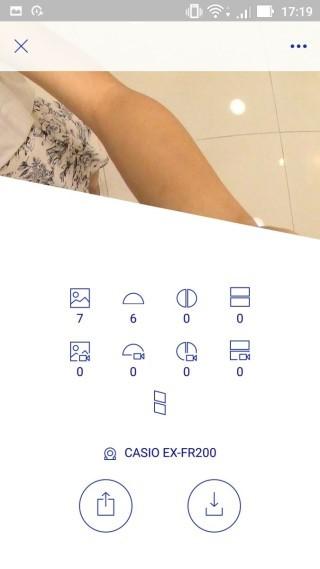 EXILIM Album App會自動顯示你選取了多少張不同類型的影像。