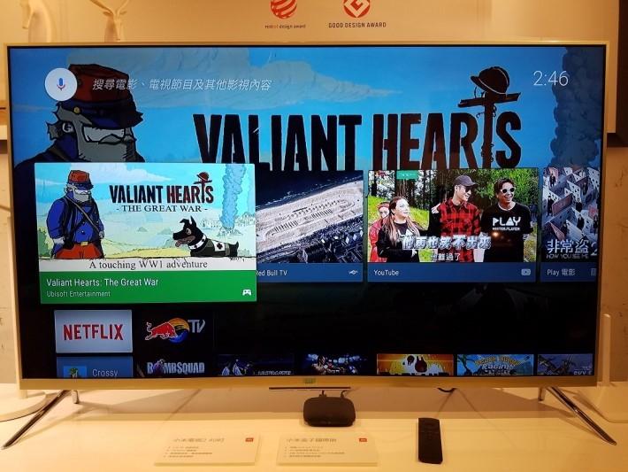 運行Andorid TV 6.0,內置Google Play服務,隨時安裝不同應程及遊戲。