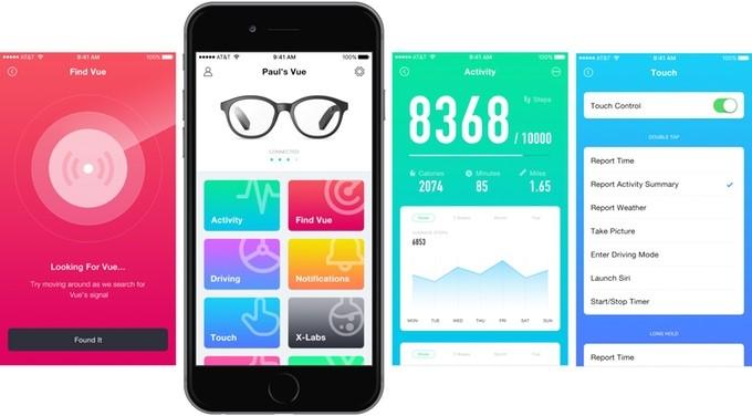 眼鏡可連接手機應用程式。