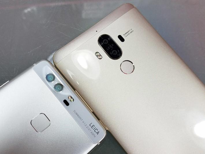 同 P9 比較,雙相機擺位有唔同,而且 Mate 9 的雙相機更升級至 20MP 及有 OIS 功能。