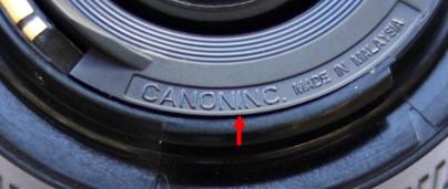 假冒品,CANONINC 變成一個字...