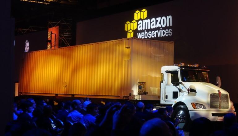 AWS Snowmobile成車貨櫃數據搬上雲