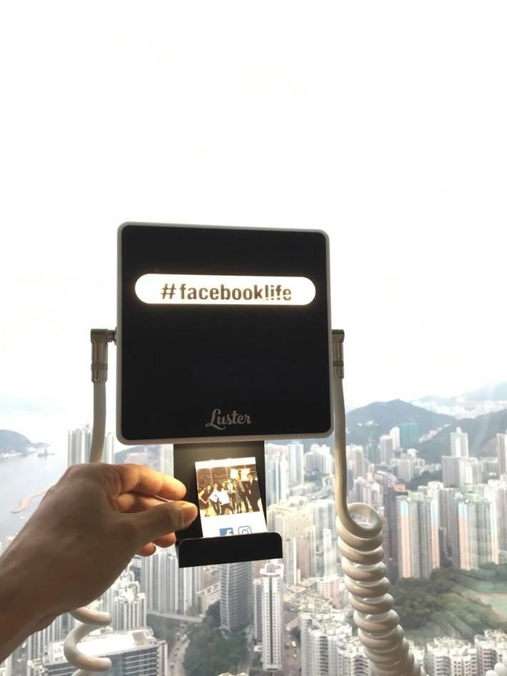 在 Instagram 貼出照片,附上大會指定 hashtag,便會自動印出照片。