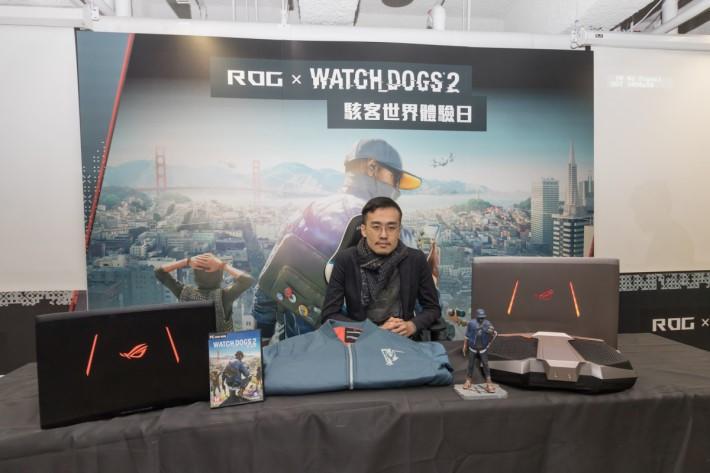 華碩 ROG 邀請了網絡紅人伍公子(Louis Ng)一同試玩《Watch Dog 2》