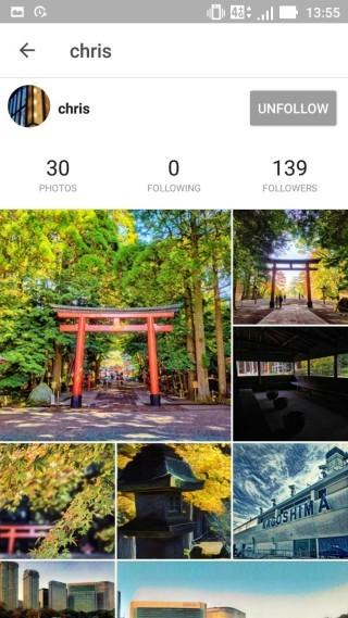 平台的介面有大小之分,感覺較 Instagram 好。