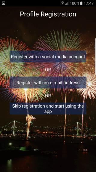 可以選擇最下的免登記使用更方便