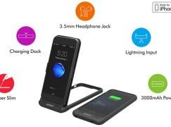 流動充電池 + 耳機插 + 機座 多功能手機殼 istand 7