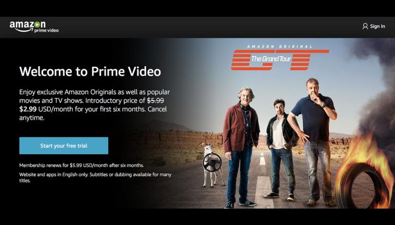 Netflix 勁敵? Amazon Prime Video 殺到