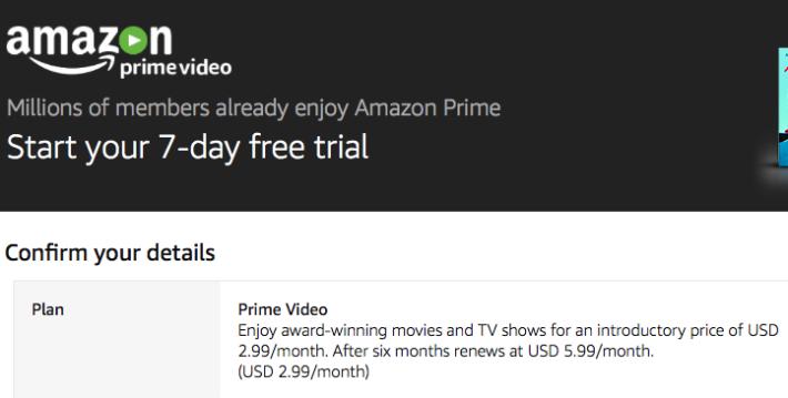 提供七日的免費試看,更可以用優惠價 $2.99 美元(折合港幣約 $24 )訂閱首 6 個月的服務