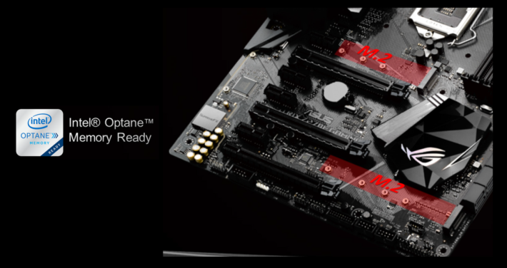 ROG STRIX Z270E GAMING 支援全新 Intel Optane 技術。