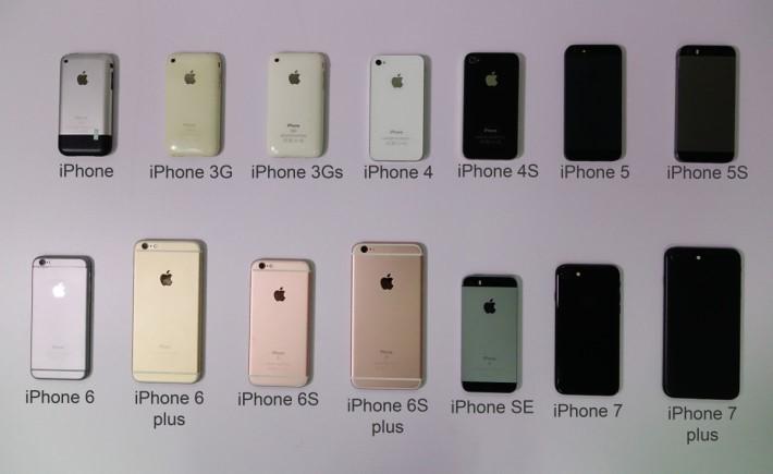 十年 iPhone 列陣(就差 iPhone 5C 不在啦⋯)