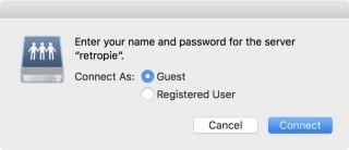 用訪客身份就可以連接 RetroPie 抄寫遊戲檔。