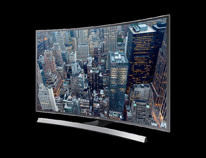 Samsung UA48JU6800JXZK弧面 4K 智能電視。