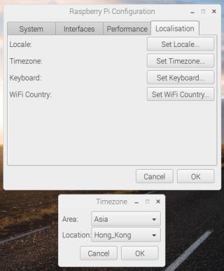 你可以順手設定 Timezone (時區)和 Wi-Fi Country ,但先不要踫「 Set Locale 」,因為事情比較複雜,要用其他方法去做才會成功。