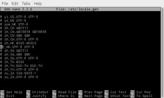 刪除 zh_HK.UTF-8 UTF-8 前的「#」號,其他的則如圖標上「#」。