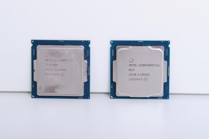 Core i7-7700K 時脈由 4.2GHz 起跳。