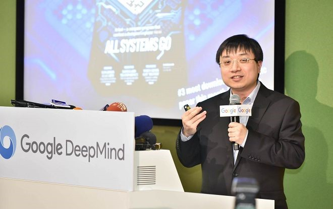 Alpha Go 團隊的黃士傑博士。