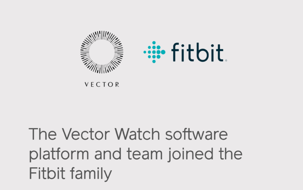 Fitbit 正式收購 Vector Watch。